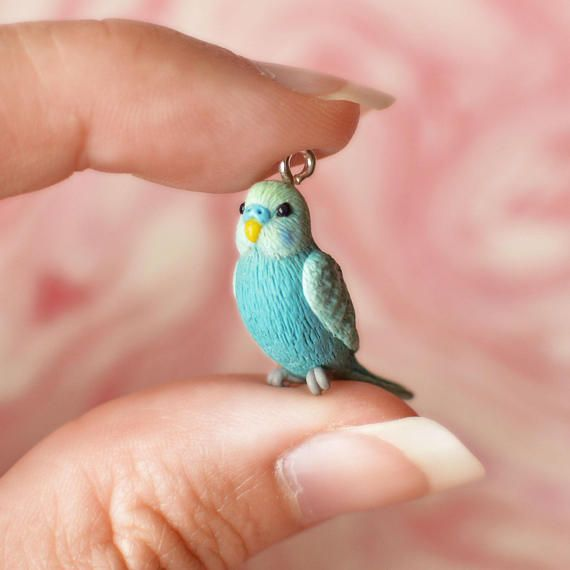 Custom-Made Bird Pendant with Chain or Pin Brooch – Any bird you want, sculpted by hand. Send a picture if you want a specific pet bird
