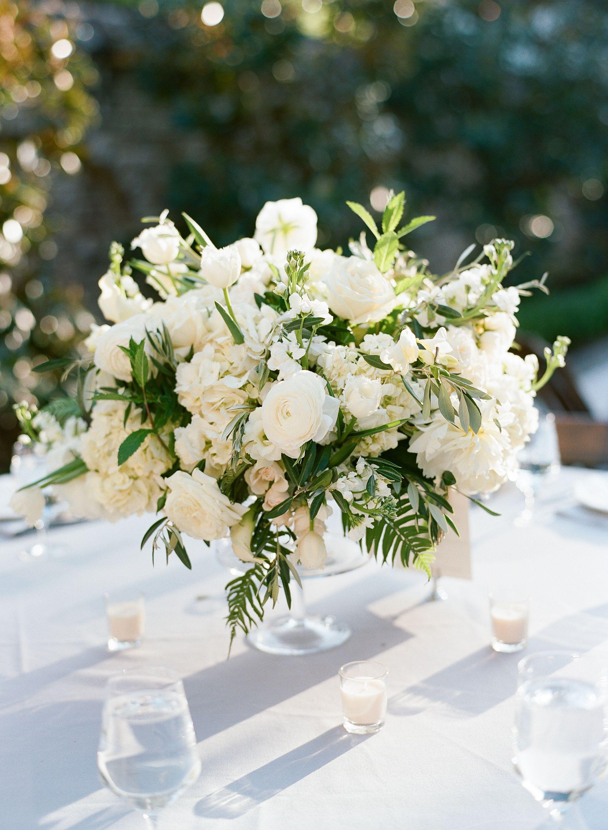Garden Inspired White And Green Centerpieces Wedding Floral Centerpieces Wedding Centerpieces Flower Centerpieces Wedding