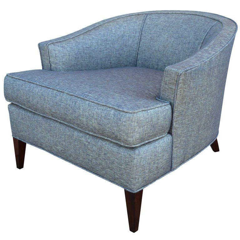 Mid-Century Barrel Back Club Chair at 1stdibs  sc 1 st  Pinterest & Mid-Century Barrel Back Club Chair at 1stdibs | Upholstery ...