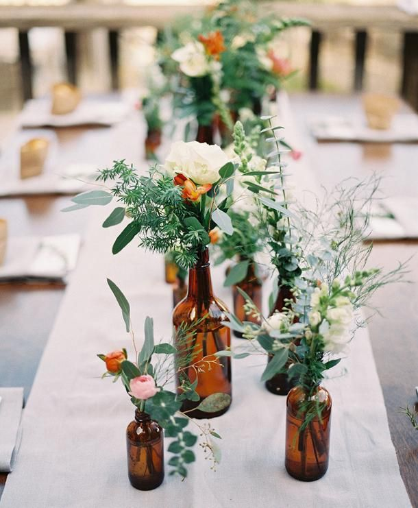 Small Glass Vases For Flowers Pinterest Wedding Table Wildflowers