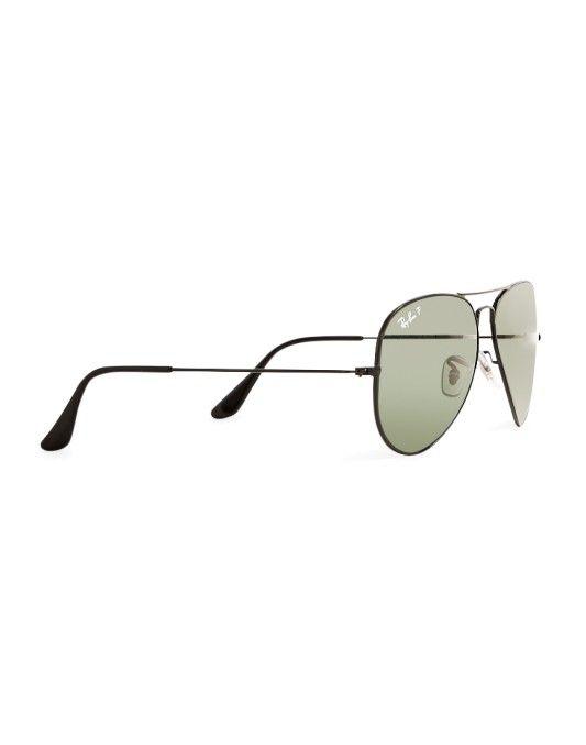 0055661e1956 Ray-Ban Polarised Aviator Sunglasses Large RB3025 002 58