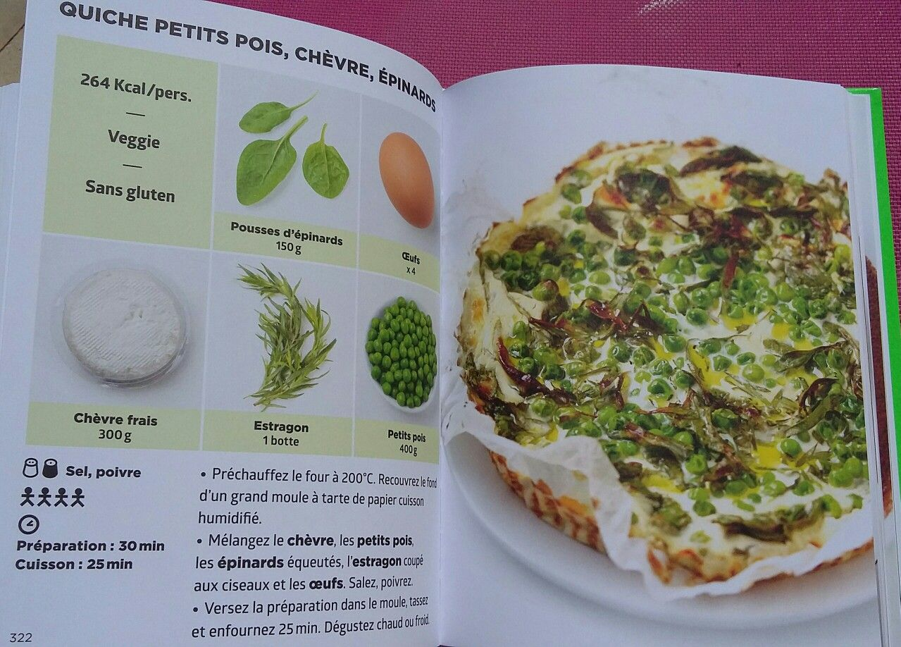 Quiche petits pois ch vre pinard simplissime light for La cuisine simplissime light