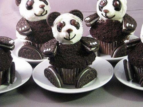 Oreo panda cupcakes.