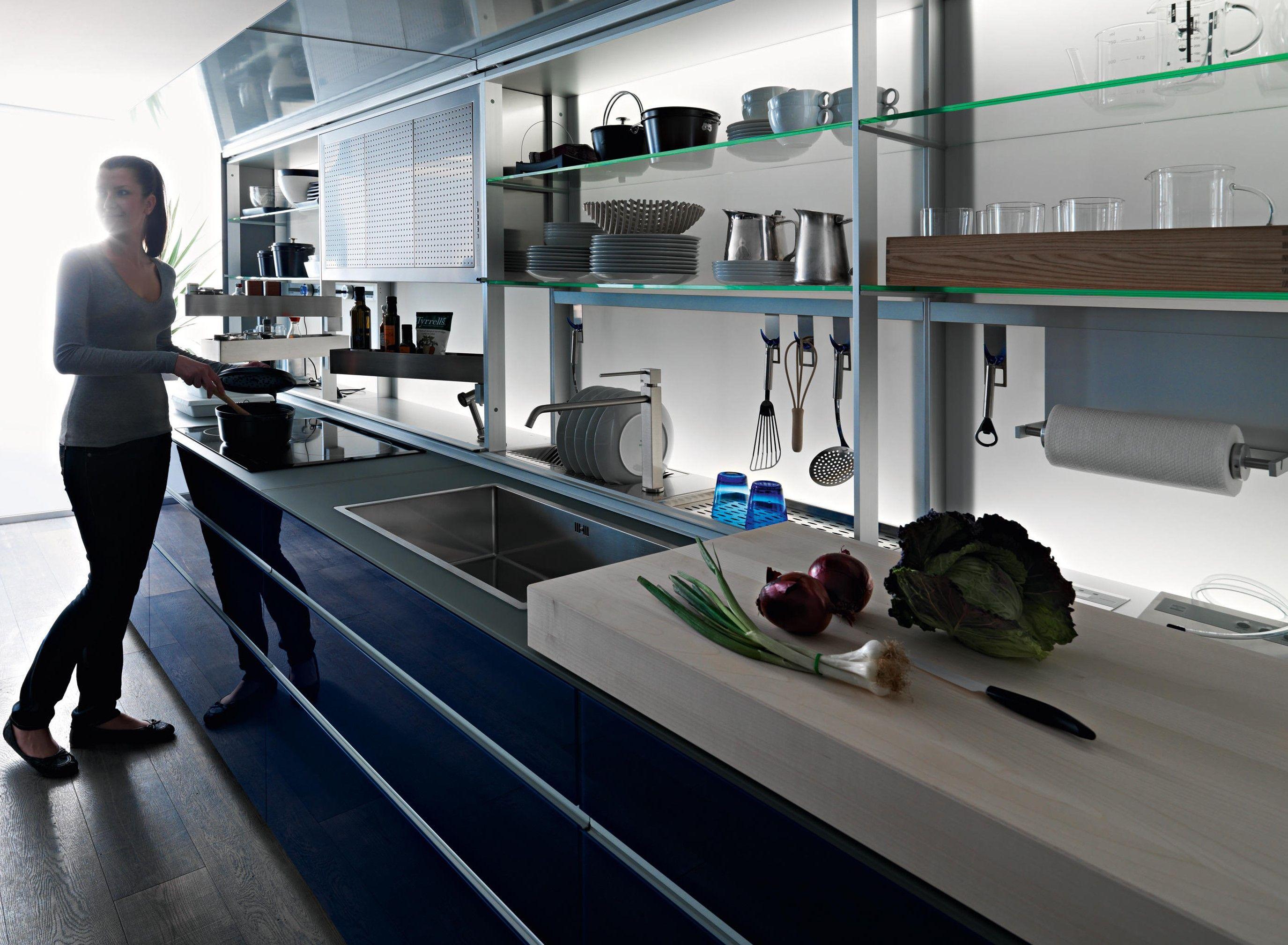Valcucine New Logica System | Invitrum blu | Designer Gabriele ...
