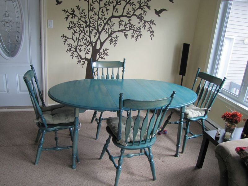 Pin By Hammers And Hand Me Downs On Home Decorrra Dining Room Blue Wood Dining Room Set Blue Dining Room Chairs