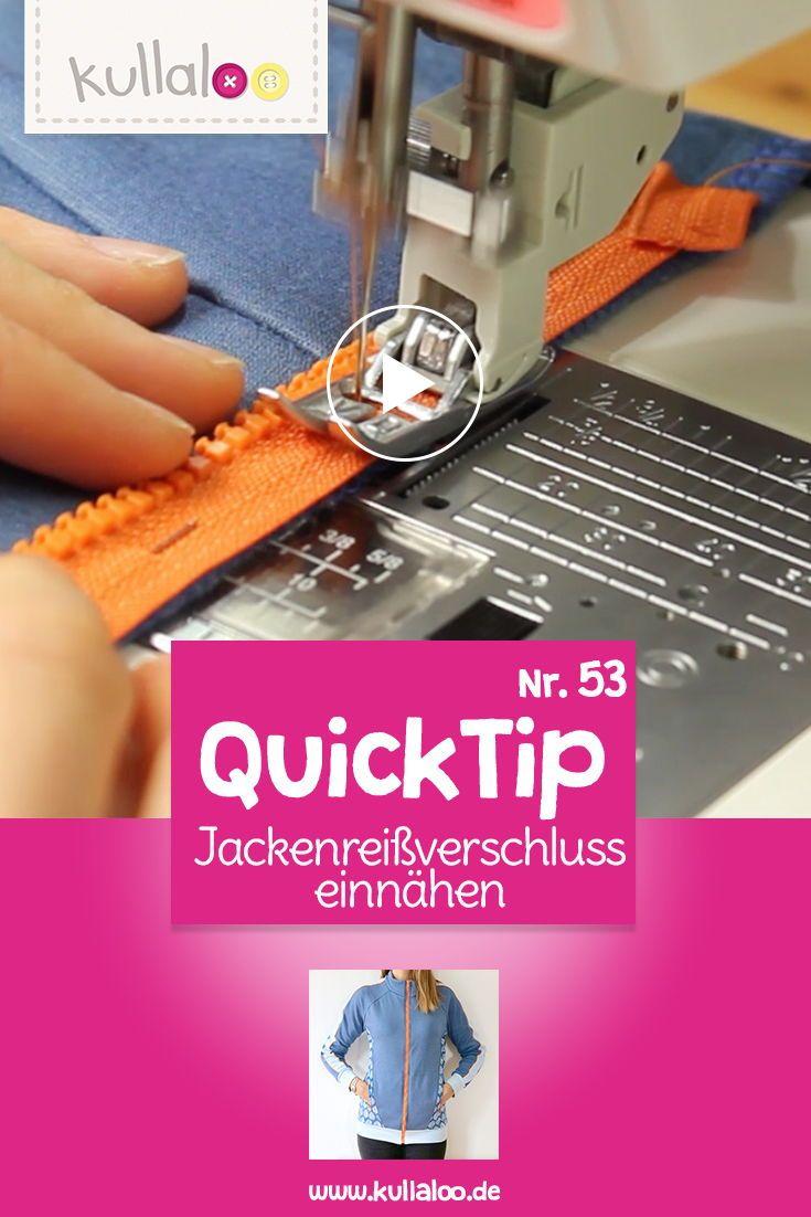 Quick Tip Video: Teilbaren Reißverschluss einnähen | kullaloo