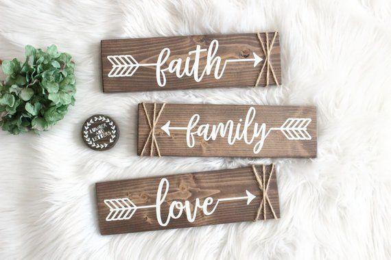 Living Room Wall Decor Faith Hope Love Arrow Decor Arrow Wood
