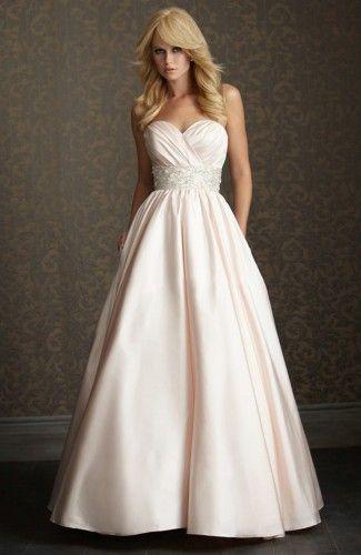Satin Ball Gown Strapless  Court Train Sleeveless Wedding Gowns
