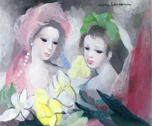 Two Girls With Flowers Marie Laurencin The Athenaeum Art Et