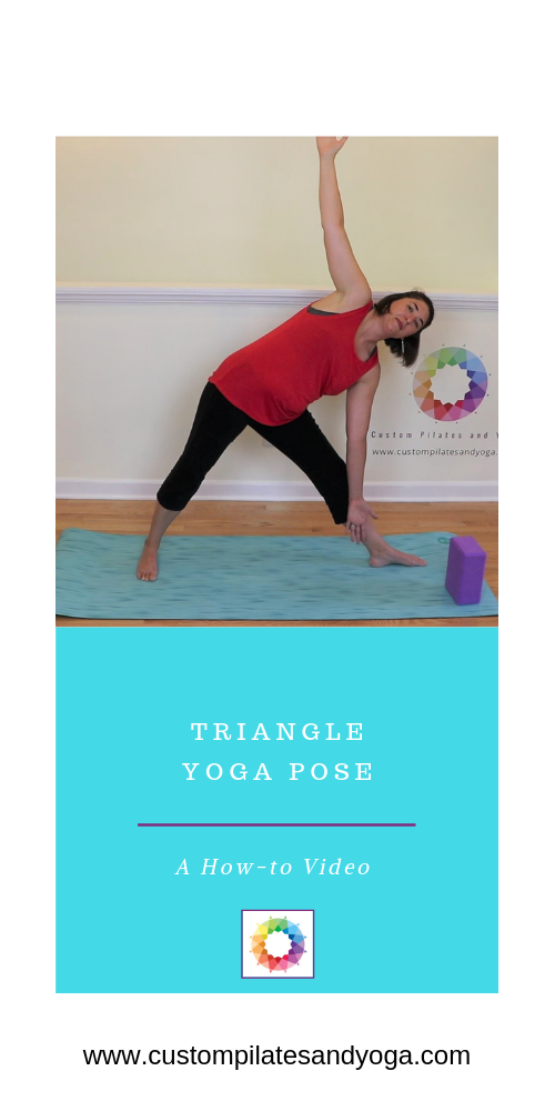 Triangle Pose Offers A Stretch For The Side Body This Stretch Helps Keep Important Back And Core Muscles Su Triangle Pose Yoga Yoga Poses Muscles In Your Body