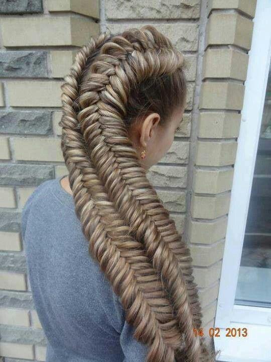 Big Fish Braid Braided Hairstyles Hair Styles Long Hair Styles