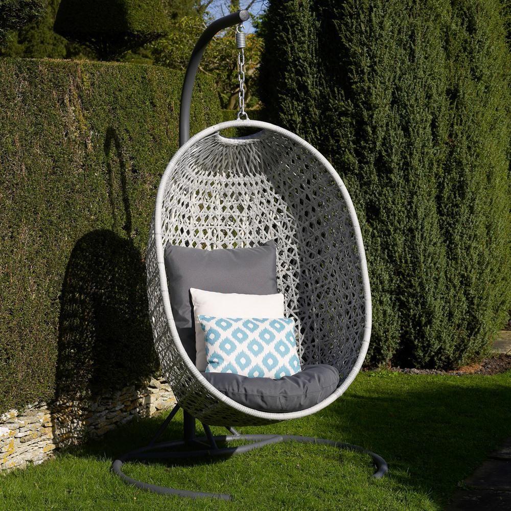 Bramblecrest monterey rattan single hanging cocoon chair