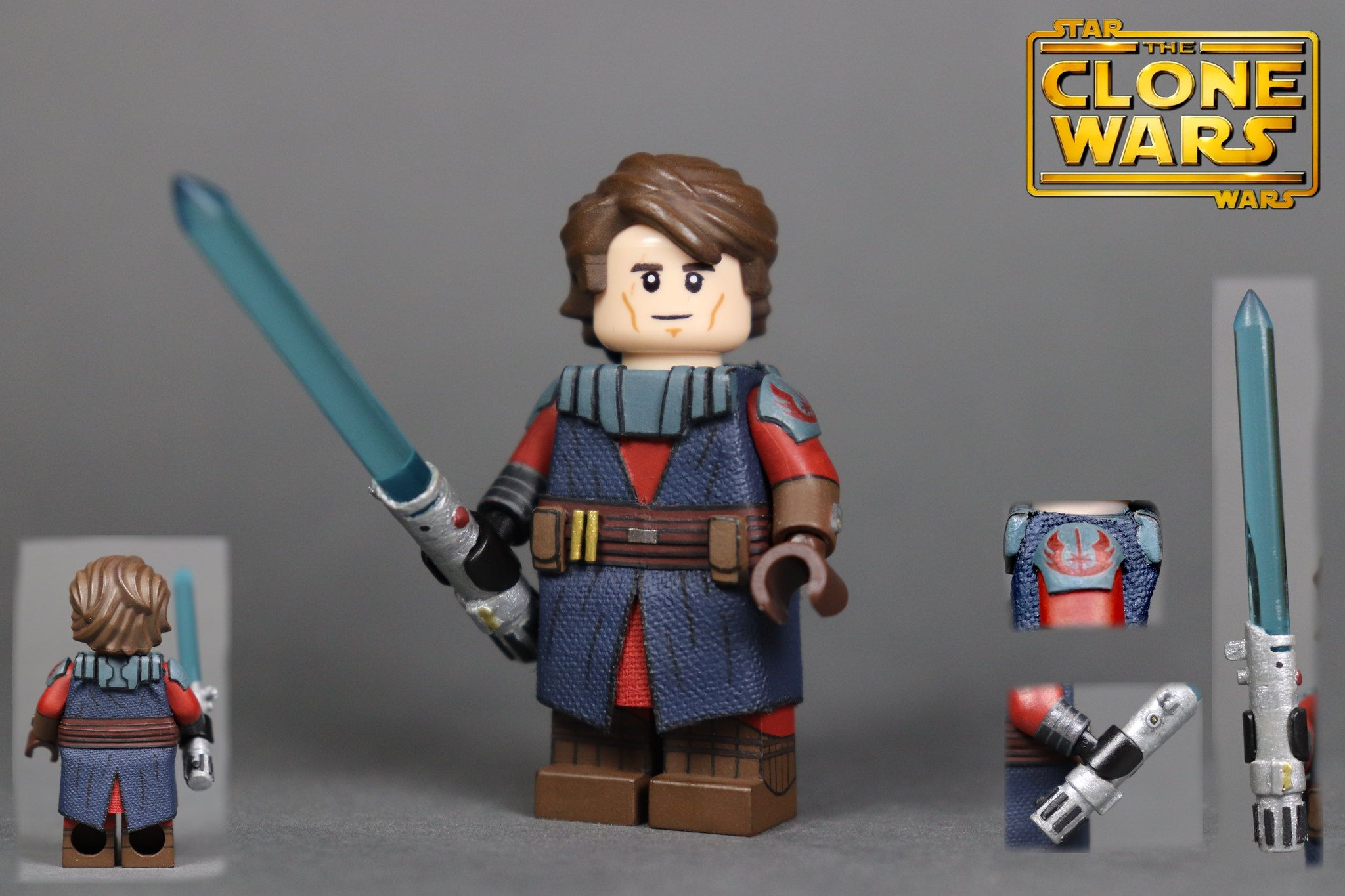 Custom Lego Star Wars The Clone Wars S1 Anakin Skywalker In 2020 Lego Star Wars Lego Star Wars Sets Custom Lego
