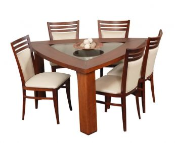Triangular Table Dining Table Dining Decor Wooden