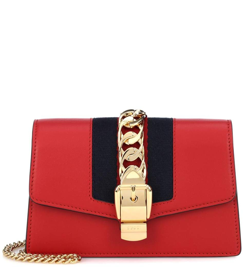 GUCCI Sylvie Mini leather crossbody bag.  gucci  bags  shoulder bags   lining  crossbody  suede   965370bcdefa5