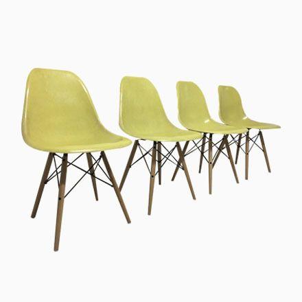 Beistellstühle von Charles \ Ray Eames for Herman Miller 1960er - esszimmer 1950