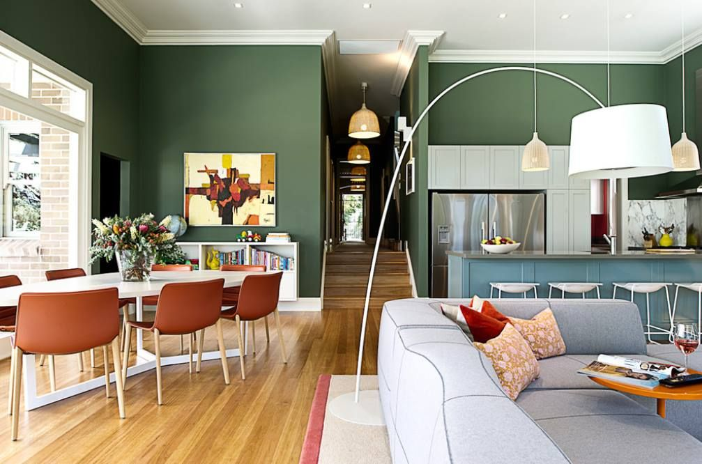 Roam Interiors  Love The Space Of The Interior, The 7 Spot Dining Table,  And The Backside Of The Bend Sofa