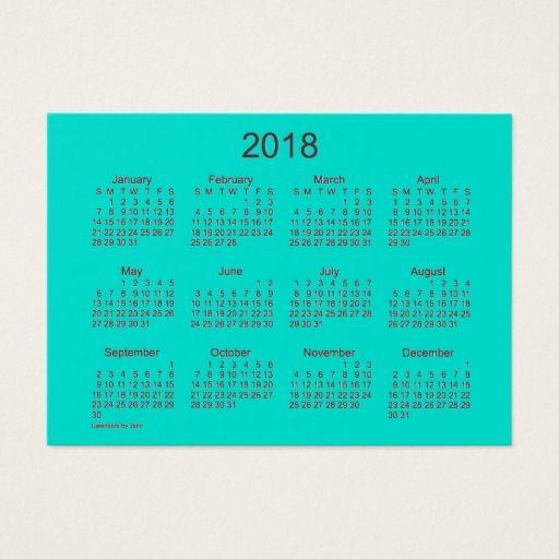 2018 Cyan Calendar By Janz Mighty Business Card All Business