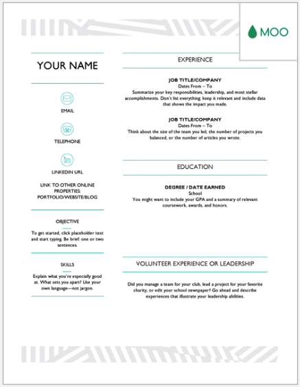 Simple google docs resume professional teacher resume