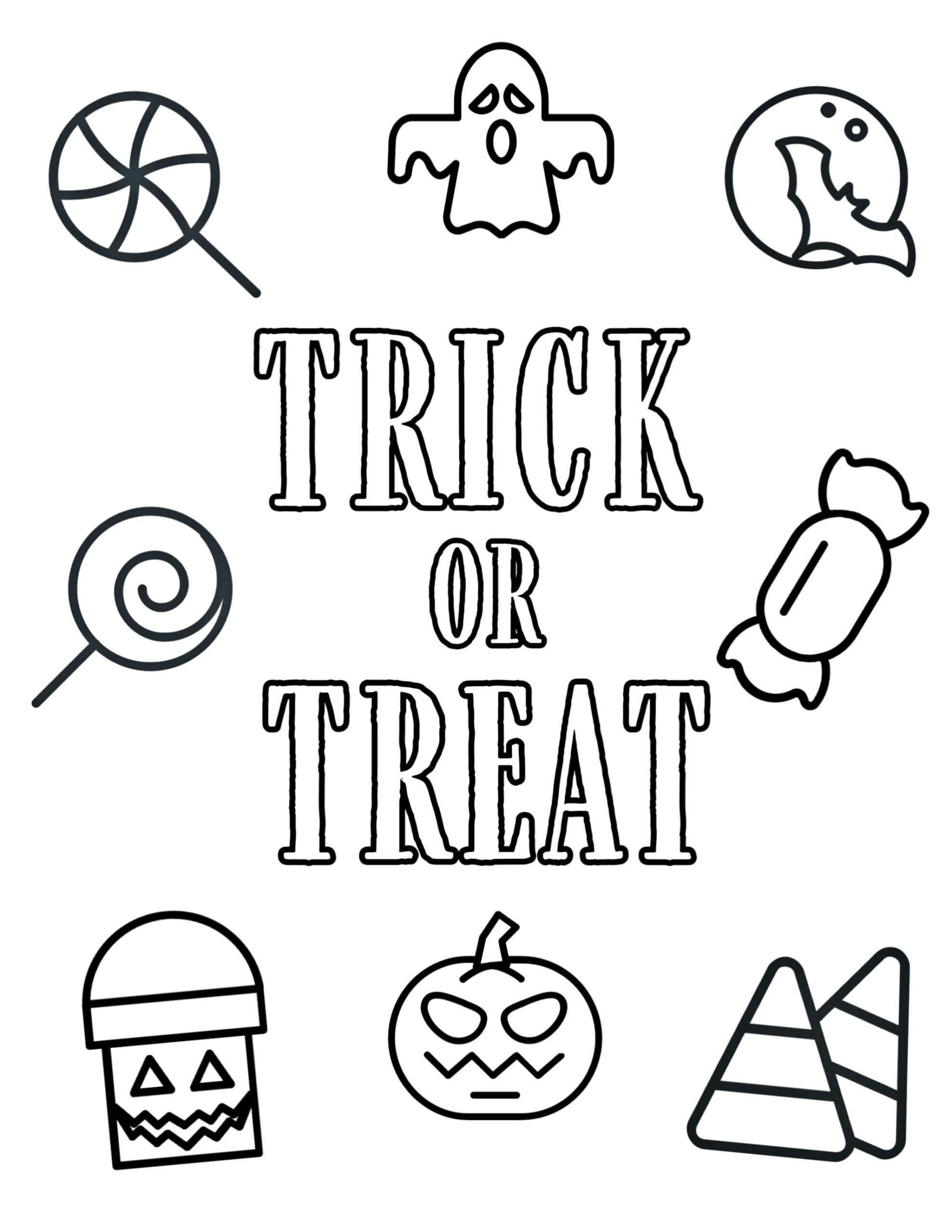 Halloween Coloring Pages For Kindergarten Free Halloween