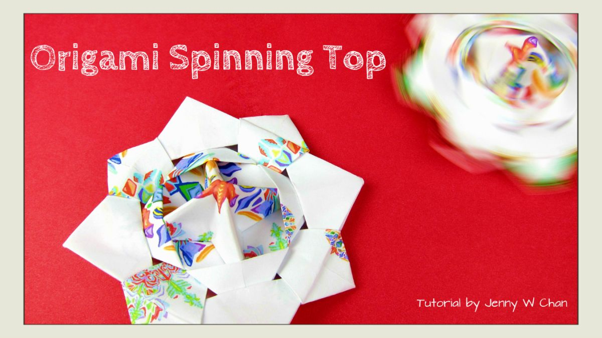 Origami spinning top origami pinterest spinning top origami origami spinning top jeuxipadfo Images