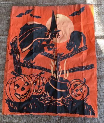 Details about Vintage 1930\u0027s Crepe Paper Halloween Decoration- Witch - halloween decorations vintage