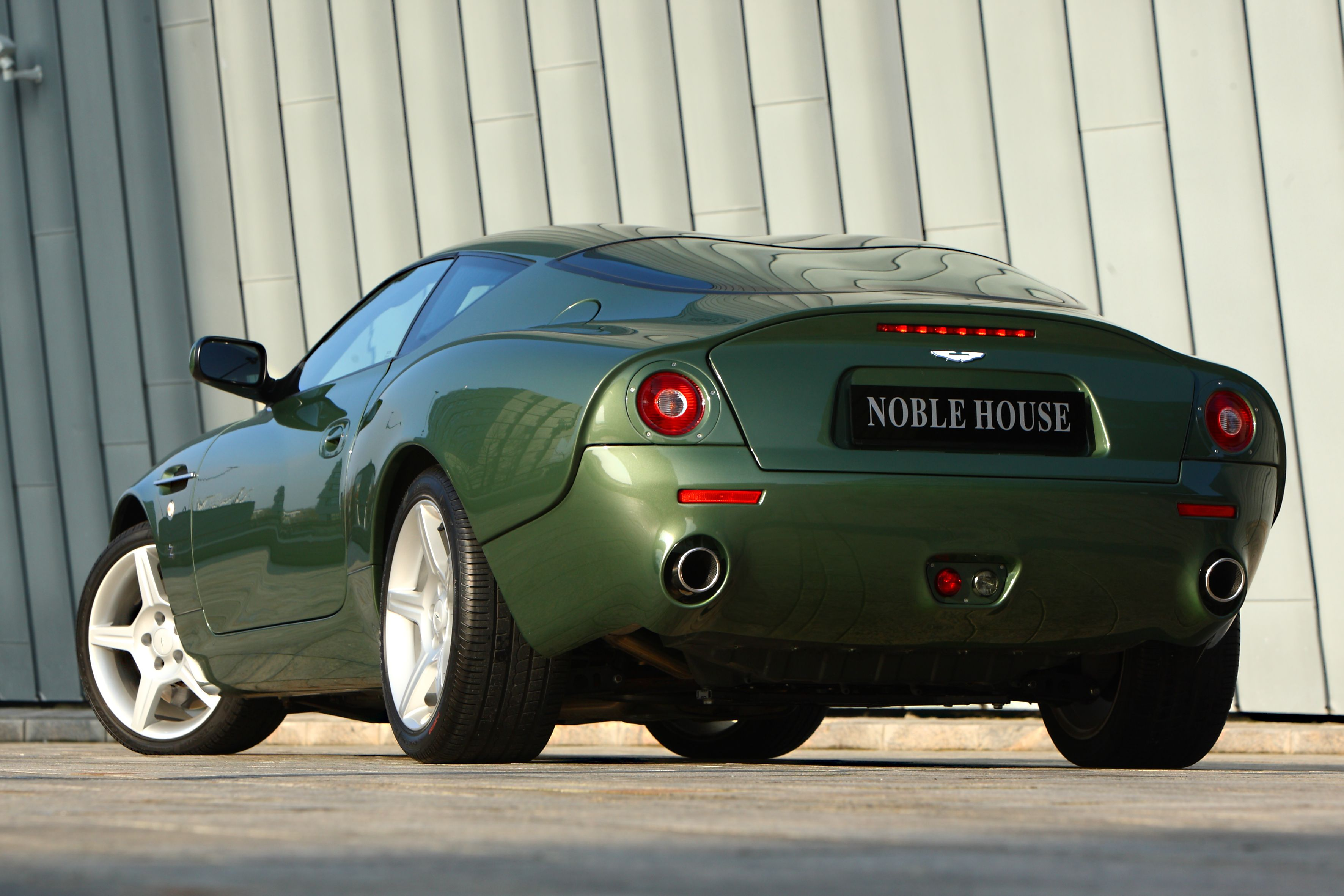 Currently offered for sale at Noble House Classics, a beautiful and stylish DB7 Zagato painted in the colour with the name DB4GT Zagato green.