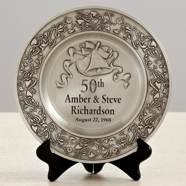 Anniversary pewter plate in 2020 50 wedding anniversary