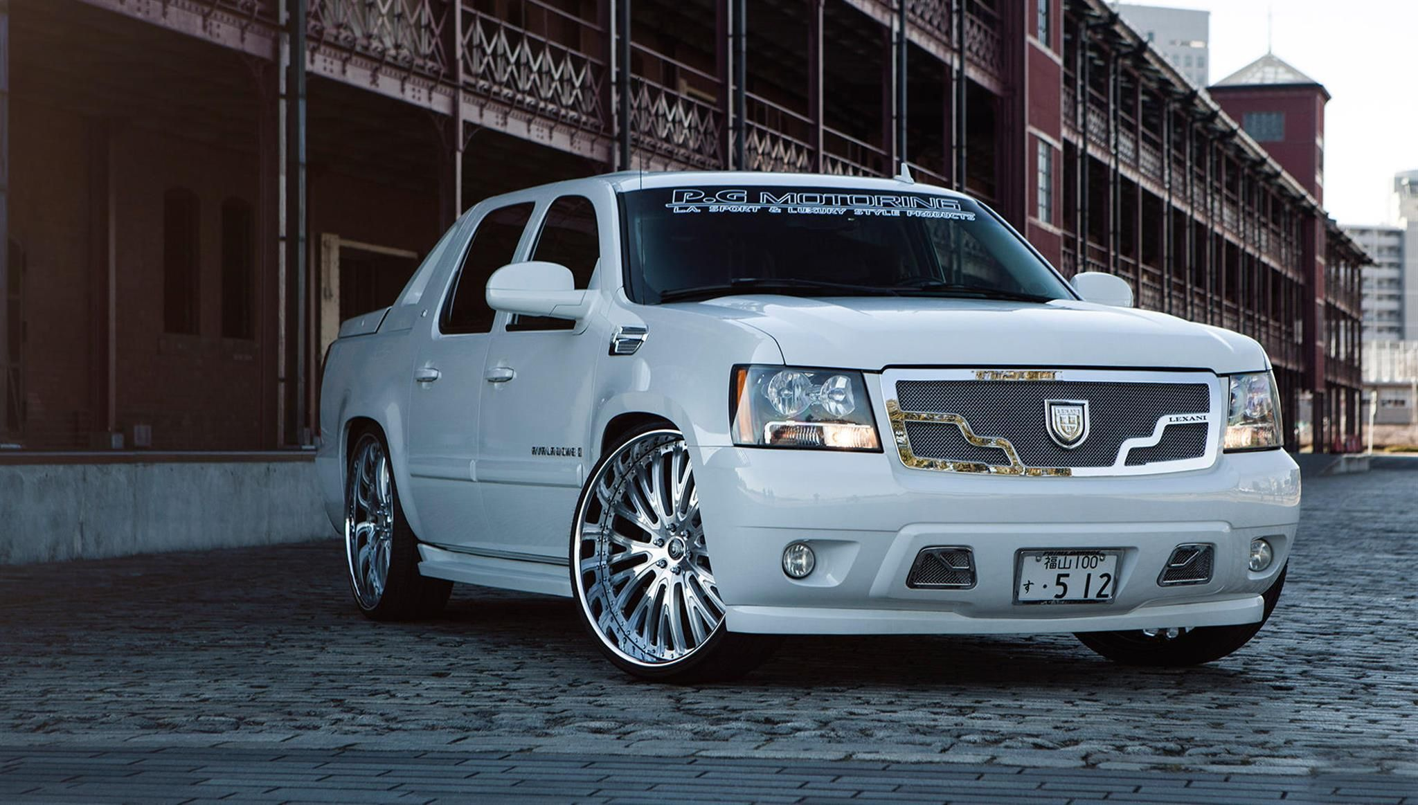 Custom lf 713 on chevrolet avalanche by lexani wheels click to view more photos