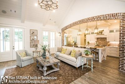 Modern Farmhouse 51754HZ comes to life in Tennessee #smallmodernfarmhouseplans