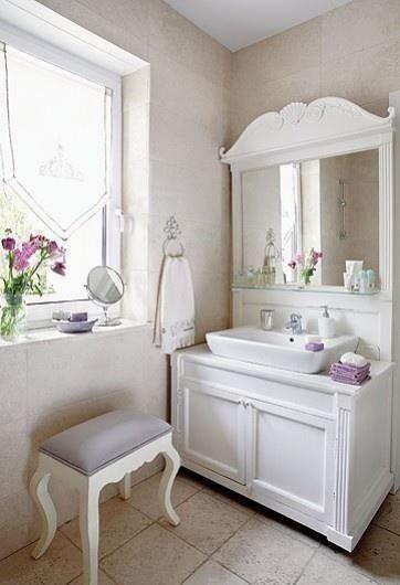 Un bagno romantico in perfetto stile Shabby Chic!   Shabby chic ...