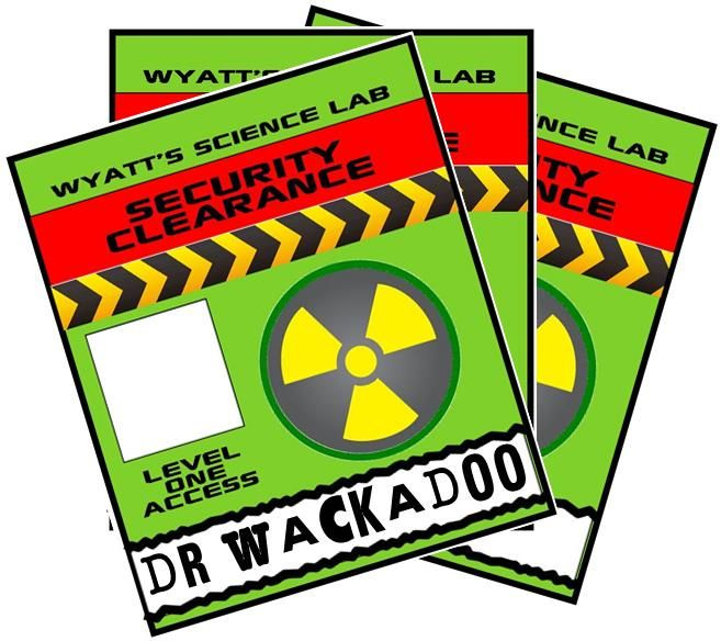 Mad Science Party Games Ideas Invitations And Party Supplies - Mad scientist name tag template