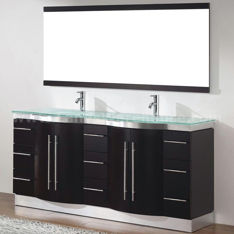 Double Bath Vanity Home Depot dinara 72d double modern bathroom vanity espresso finish