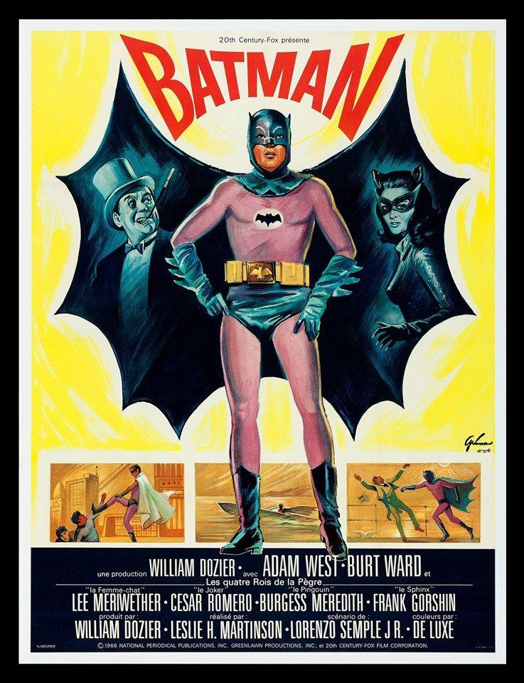 1966 France Batman Vintage Advertising Posters Vintage Movies