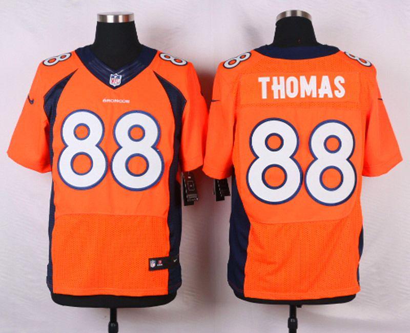 Hot NFL Customize Denver Broncos 88 Demaryius Thomas Orange Men Nike  supplier