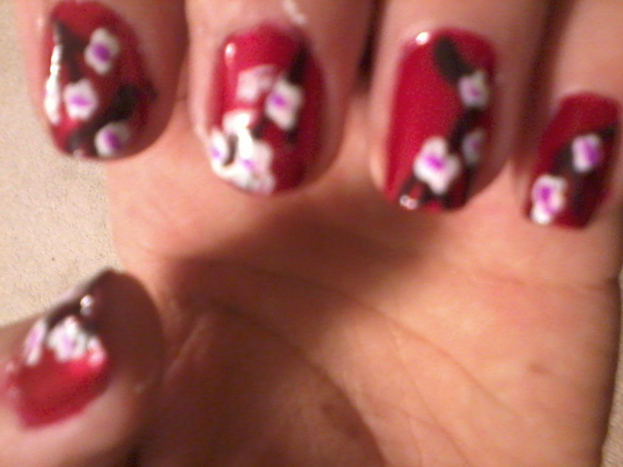 Cherry blossom nail art | Fancy Nails | Pinterest | Cherry blossoms