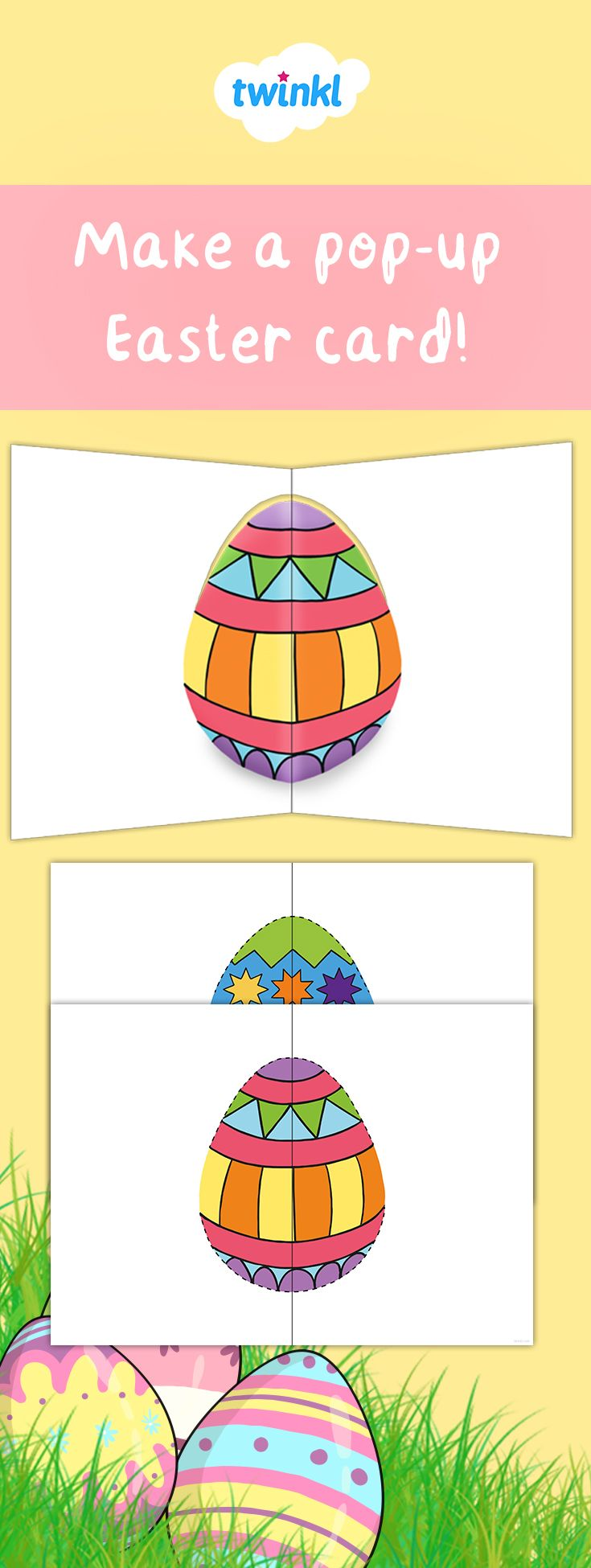 Make a pop-up Easter card with our printable template ...