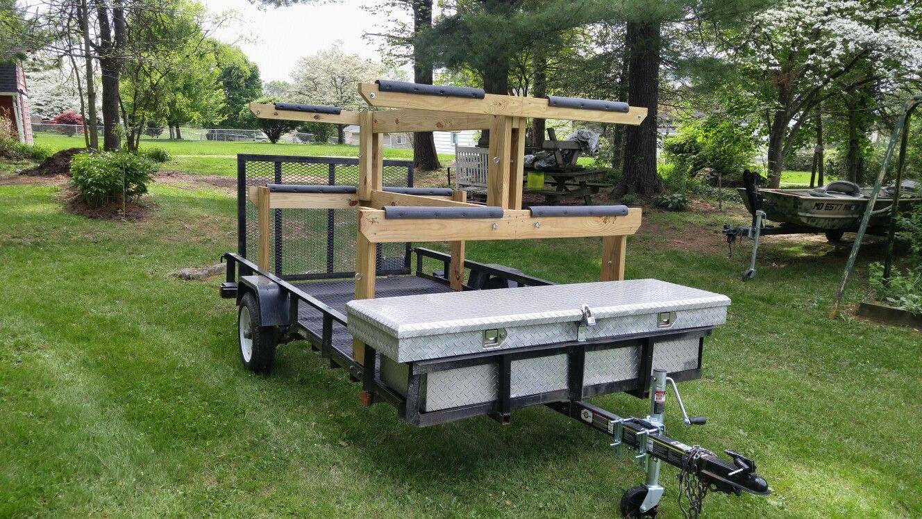 Diy kayak trailer camping trailer diy camping trailer