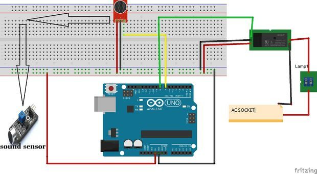 How to Turn ON AC Light and Fan by Clap Using Arduino and