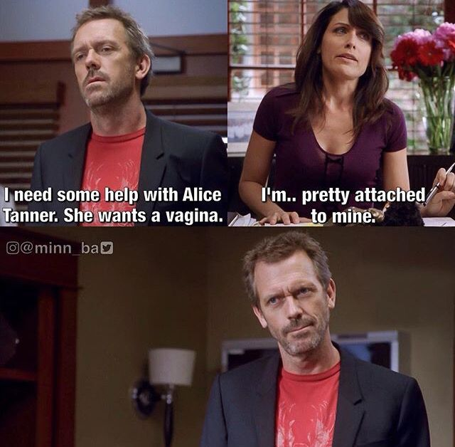 That Moment When House Was Completely Impressed By Cuddy S Pun House Md Funny House Md Quotes House Md