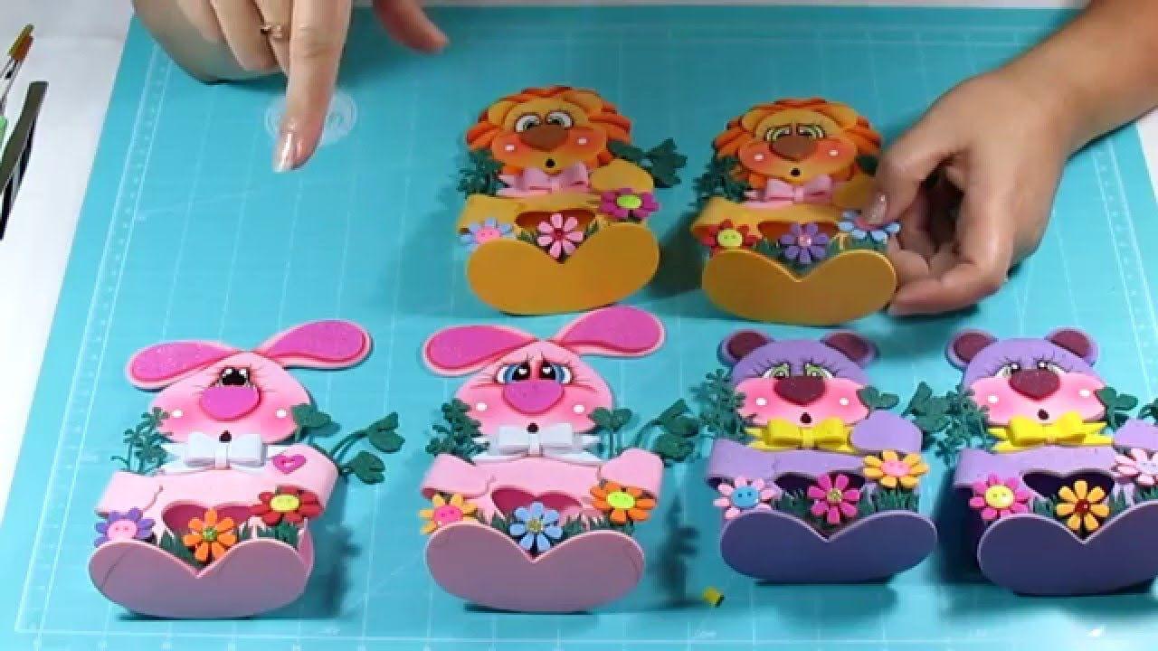 diy ideas para regalar a nios dulceros en fomi goma eva microporoso con goma eva pinterest foam crafts and ideas para