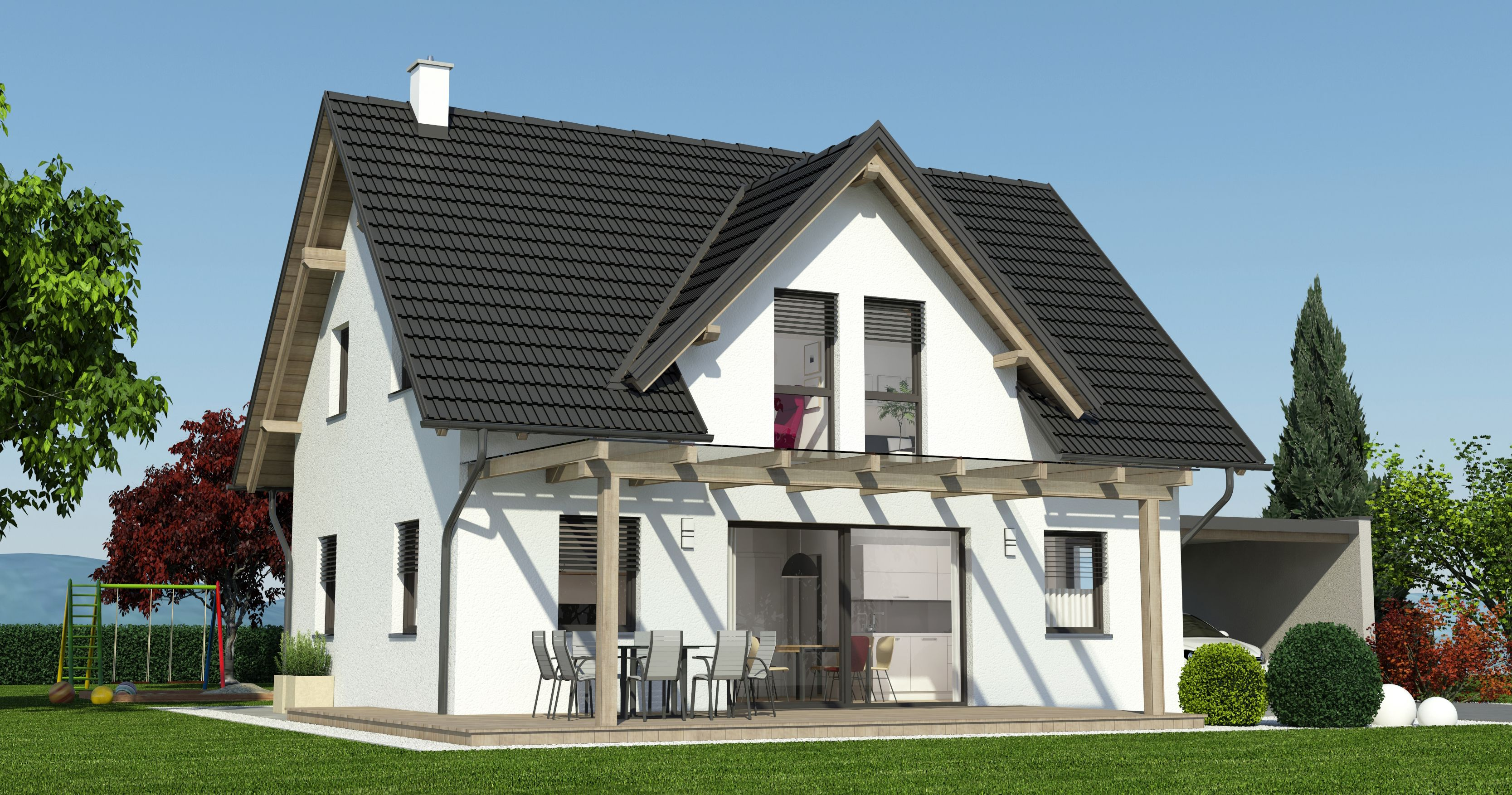 Fertigteilhaus österreich  Fertighaus Steiermark, Fertighaus massiv, Fertighaus ...