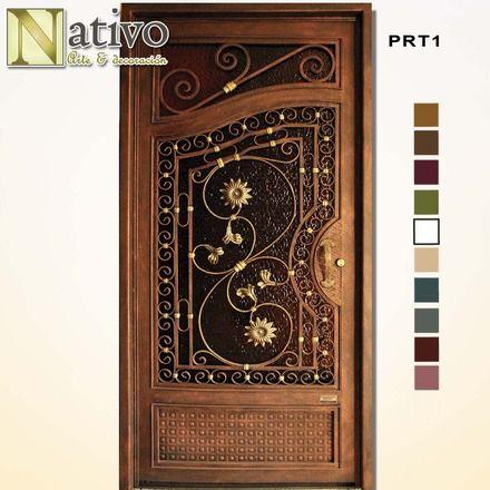 Fotos de puerta de hierro forjado guayaquil puertas for Puertas para casas minimalistas