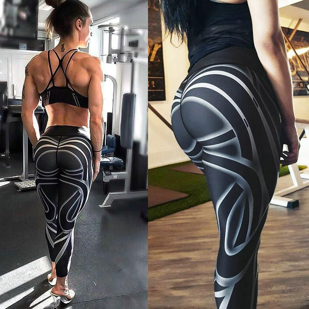 aa01a7bb4c Women Sports Gym Yoga Workout Mid Waist Running Pants Fitness Elastic  Leggings Features: 1.