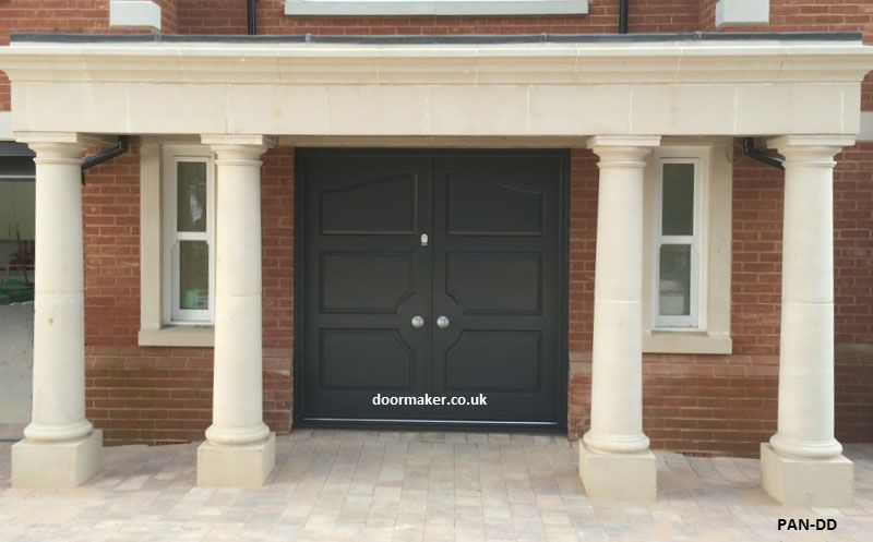 panelled double entrance doors grey | Victorian Georgian Edwardian ...