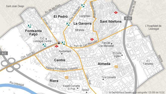 Cornella De Llobregat Mapa.Resultado De Imagen De Cornella De Llobregat Mapa Mapas Y