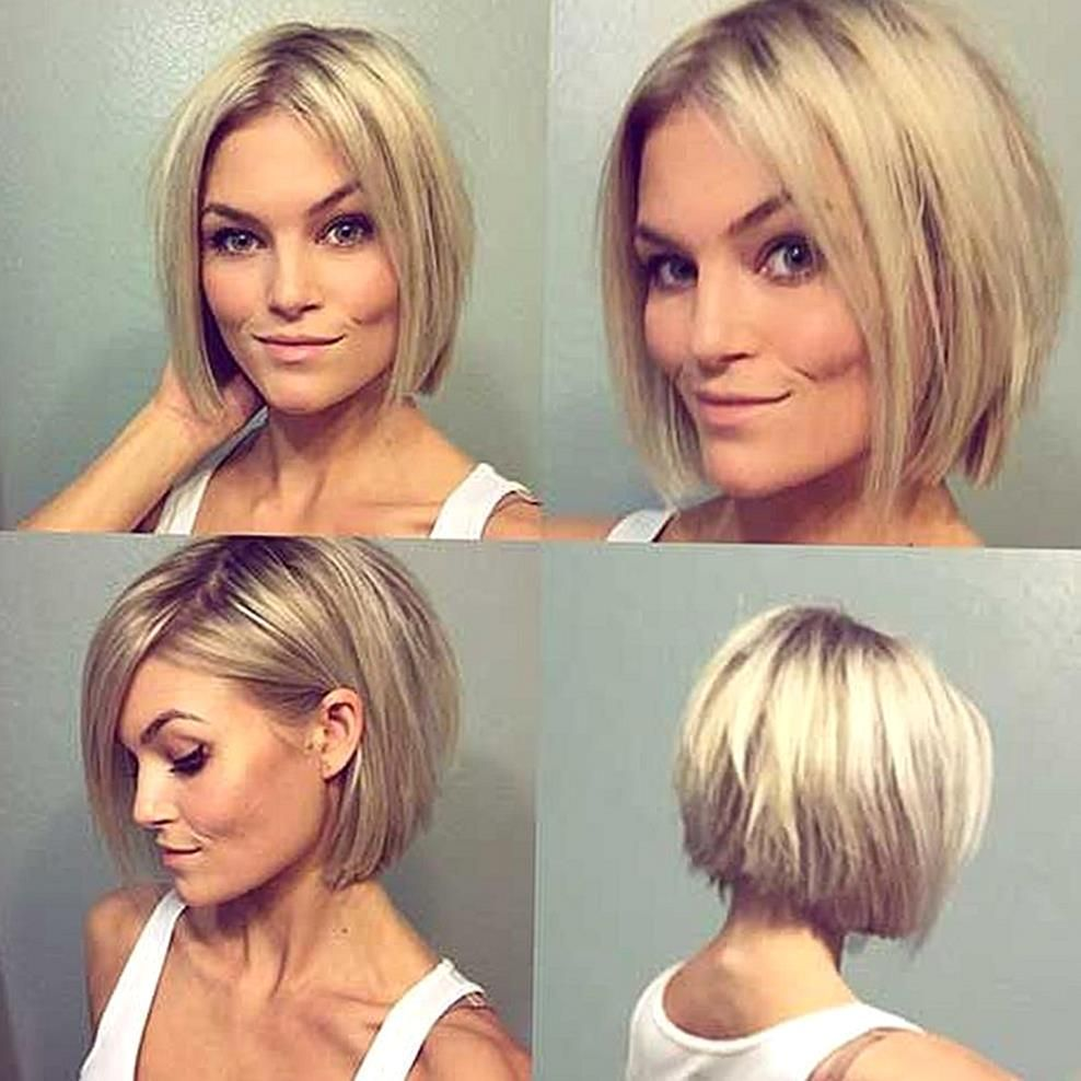 Normally Short Hair Makes You Appear Much Younger But Short Hair Does Not Suit Every Type Of Face These Sho In 2020 Bob Hairstyles Bob Style Haircuts Short Thin Hair