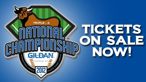 Minor league AAA National Championship Game in September (Durham, NC)