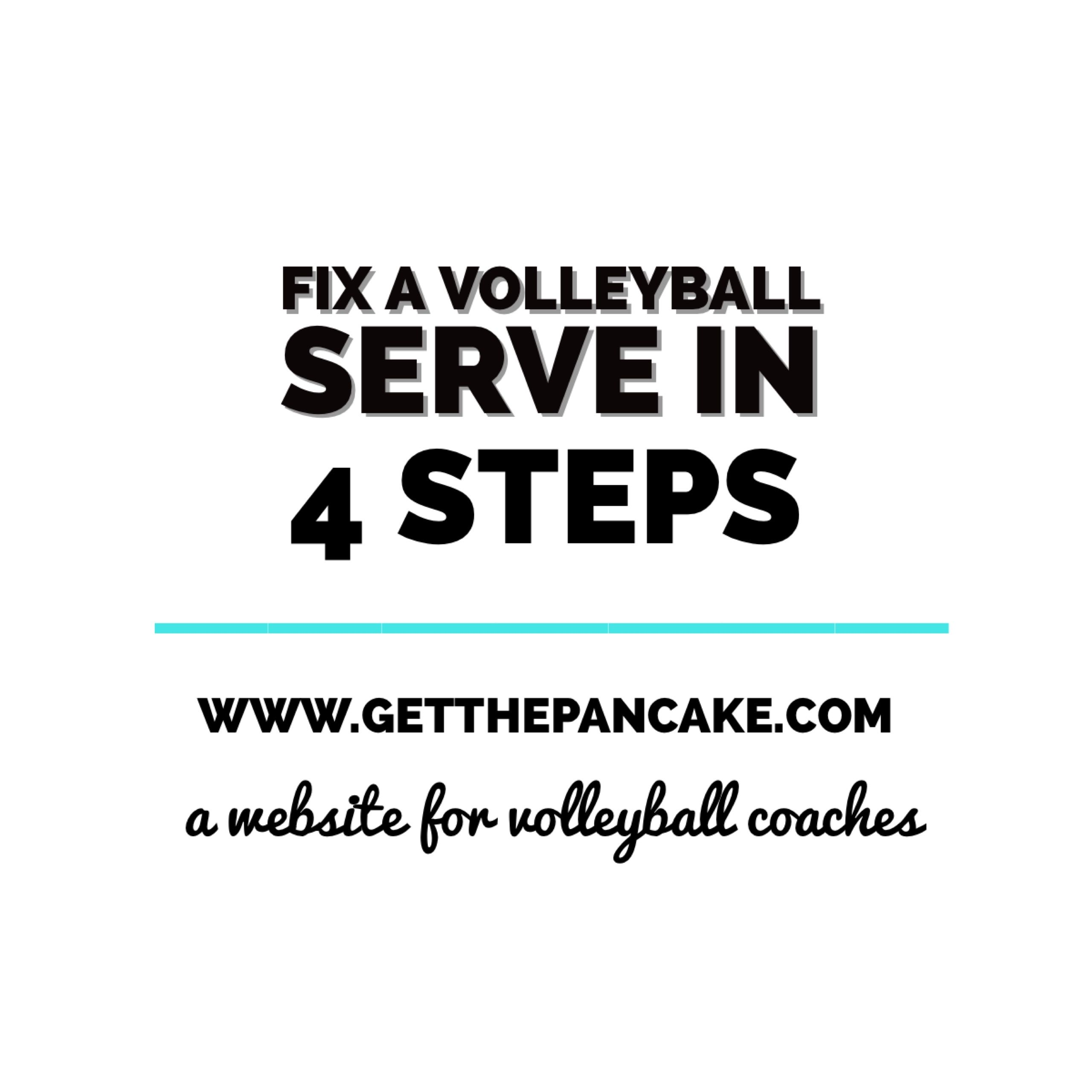 Fix A Volleyball Serve In 4 Steps Volleyball Serve Volleyball Workouts Coaching Volleyball