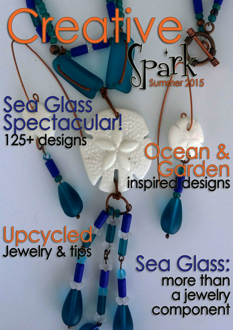 Our Summer 2015 issue focuses on our sea glass beads but explores the unique ways they can be used. In addition, there's social media tips, summer palettes, travel tips, and so much more